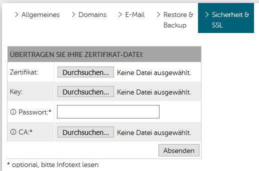 SSL-Zertifikats Verwaltung im KIS